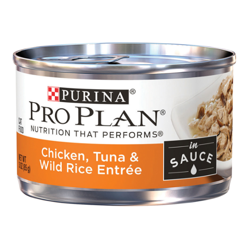 Purina® Pro Plan® Savor® Adult Cat Chicken, Tuna & Wild Rice Entrée In Sauce Cans