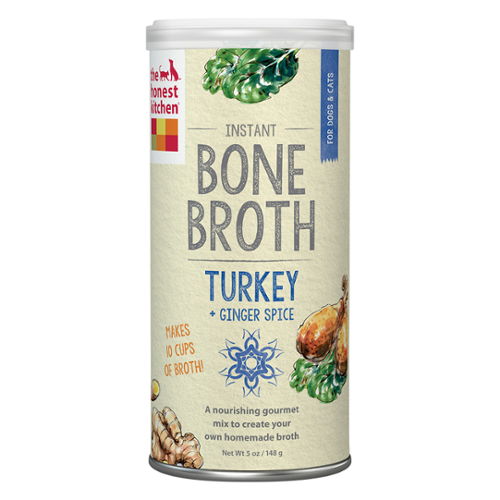 The Honest Kitchen® Turkey Bone Broth with Ginger Liquid Treat for Cats & Dogs
