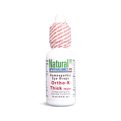 Natural Ophthalmics Homeopathic Eye Drops Ortho-K Thick (Night)