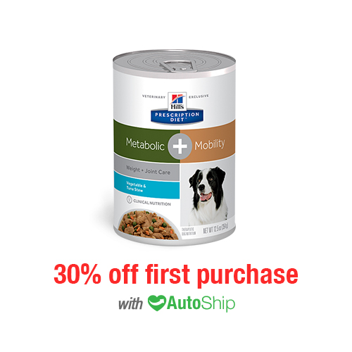 Hill's® Prescription Diet® Dog Metabolic + Mobility cans