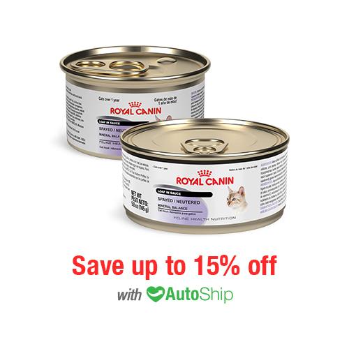 Royal Canin Feline Health Nutrition Spayed/Neutered Cans