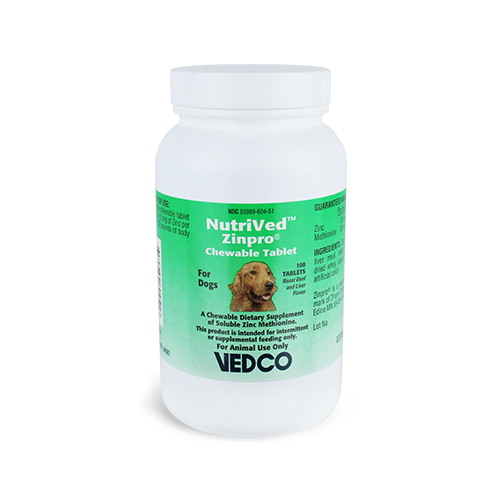NutriVed™ ZinPro® Chewable Tablets for Dogs