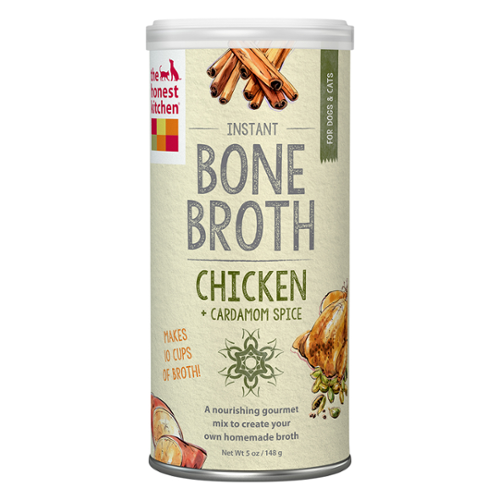 The Honest Kitchen® Chicken Bone Broth with Cardamom Liquid Treat for Cats & Dogs