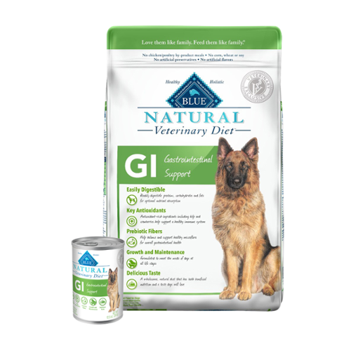 BLUE Naturals Veterinary Diet™ Dog GI Gastrointestinal Support