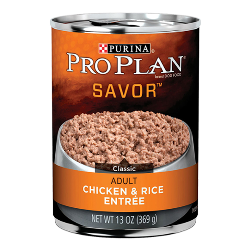 Purina® Pro Plan® Savor® Adult Dog Classic Chicken and Rice Entree Cans
