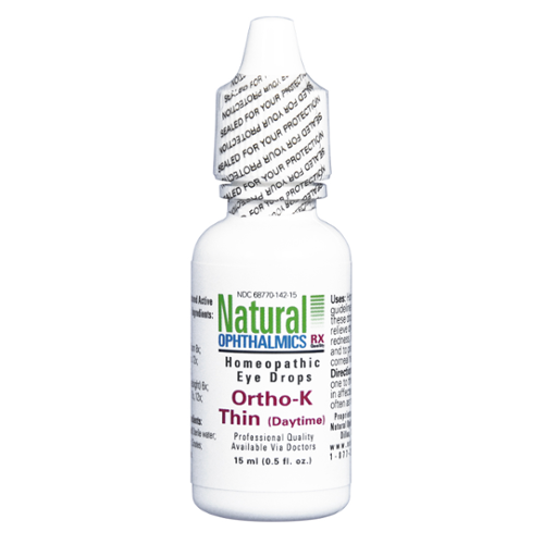 Natural Ophthalmics Homeopathic Eye Drops Ortho-K Thin (Daytime)