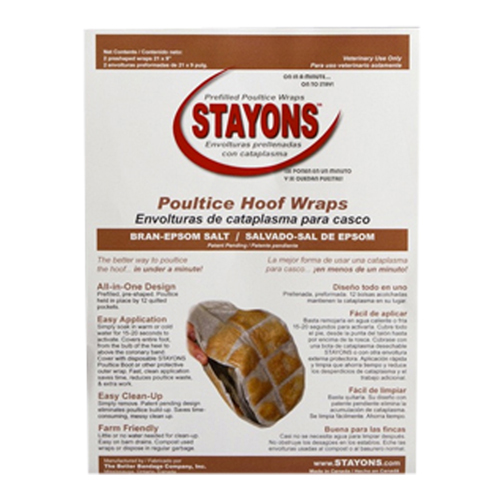 Stayons® Poultice Hoof Wraps Bran + Epsom Salt for Horses