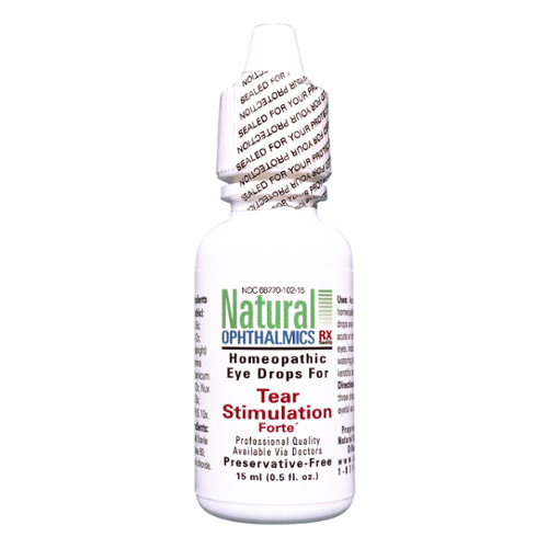 Natural Ophthalmics Homepathic Eye Drops for Tear Stimulation Forte