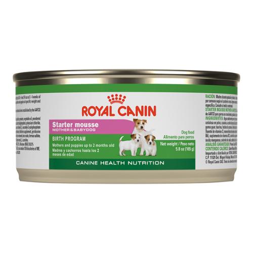 Royal Canin Canine Health Nutrition Starter Mousse Mother & Babydog Cans