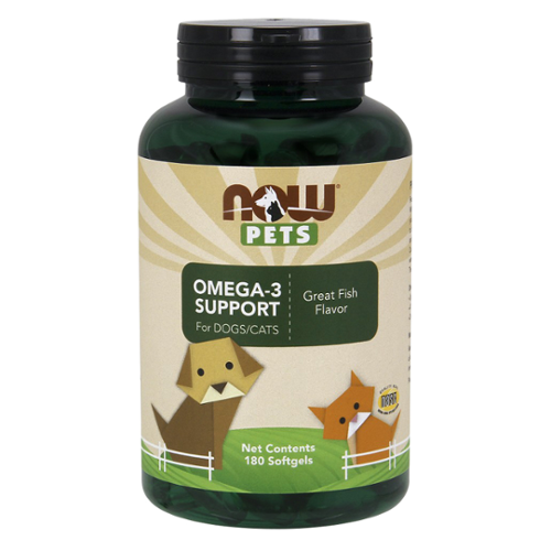 NOW® Pets Omega-3 Support Softgels for Dogs/Cats