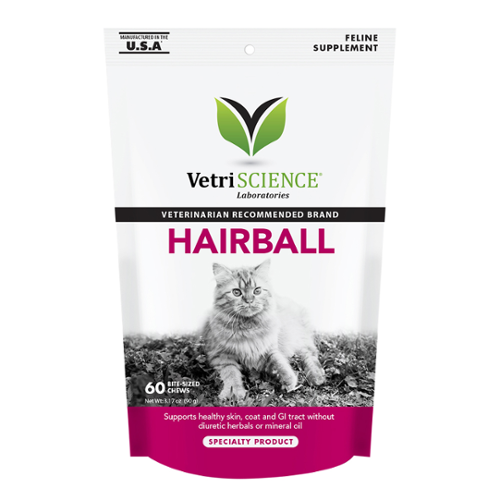 VetriScience® Feline Furball Plus Bite-Sized Chews
