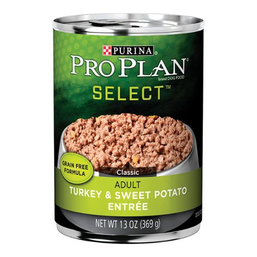 Purina® Pro Plan® Select™ Adult Dog Classic Turkey & Sweet Potato Entree Grain Free Cans