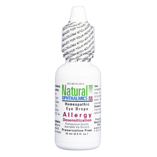 Natural Ophthalmics Homeopathic Eye Drops Allergy Desensitization