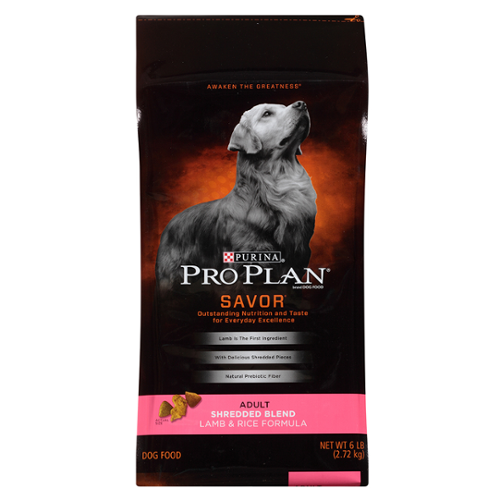 Purina® Pro Plan® Savor® Adult Dog Lamb and Rice Formula Shredded Blend Dry