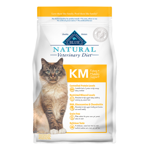 BLUE Naturals Veterinary Diet™ Cat KM Kidney & Mobility Dry