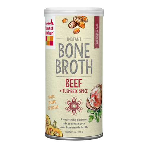 The Honest Kitchen® Beef Bone Broth with Turmeric Liquid Treat for Cats & Dogs