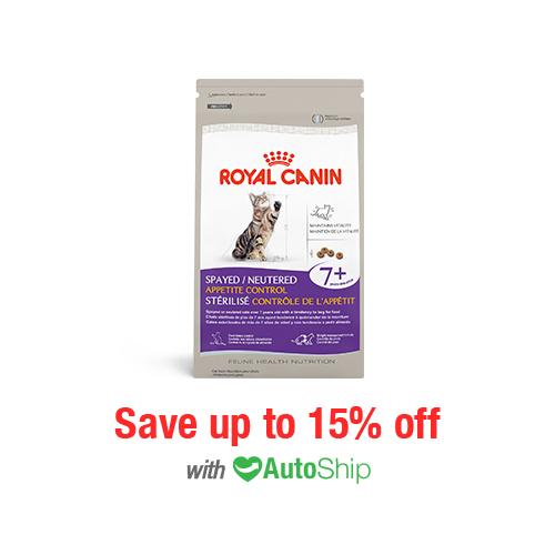 Royal Canin Feline Health Nutrition Spayed/Neutered Appetite Control 7+ Dry