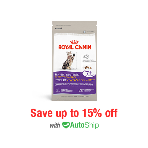 Royal Canin Feline Health Nutrition Spayed/Neutered Appetite Control 7+ Dry