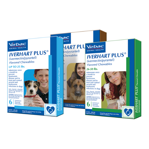 Iverhart™ Plus Chewable Tablets 26-50lbs 12 dose