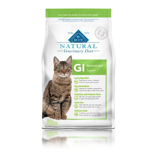 BLUE Naturals Veterinary Diet™ Cat GI Gastrointestinal Support Dry