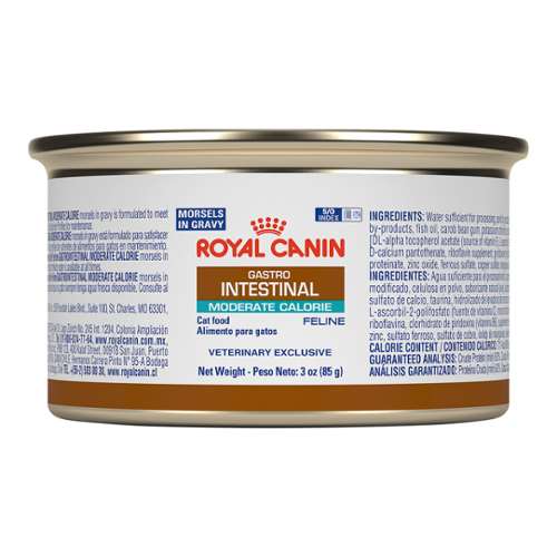 Royal Canin GI Moderate Calorie Morsels In Gravy Can for Cats
