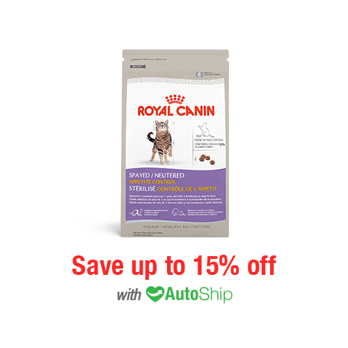 Royal Canin Feline Health Nutrition Spayed Neutered Appetite Control Dry